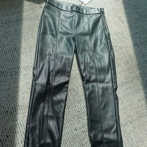 "Zara Black ""Leather"" Leggings"